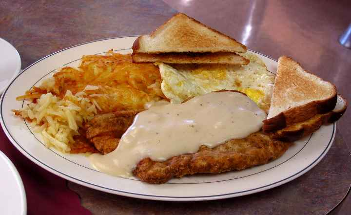 Chicken Fried Steak Breakfast Sam S Place